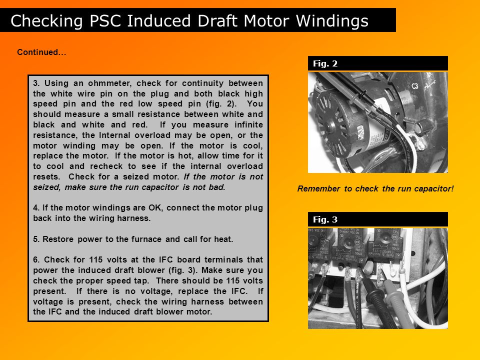 Checking+PSC+Induced+Draft+Motor+Windings table of contents safety circuits induced draft motors gas valves  at n-0.co