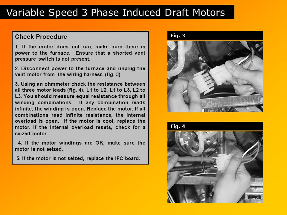 Table of contents safety circuits induced draft motors gas for Variable speed ecm motor