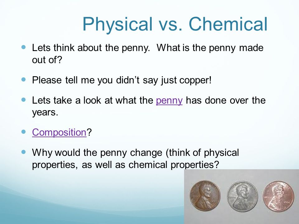 Chemical Properties Of A Penny