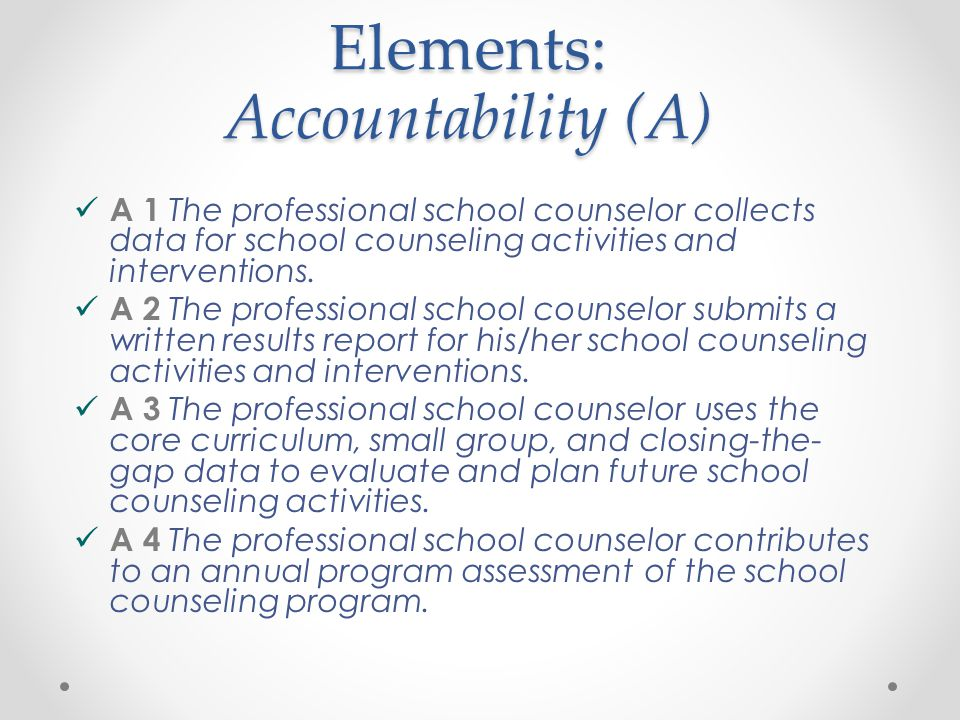 report accountability counseling Accountability get training purchase the books register your book asca national model faqs school counseling curriculum results report school counselor competencies school data profile school counselor performance appraisal school counseling program assessment.