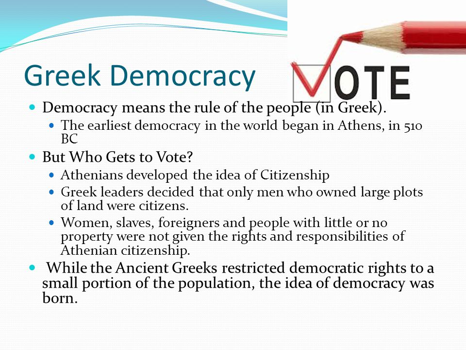 a description of the development of democracy in athens
