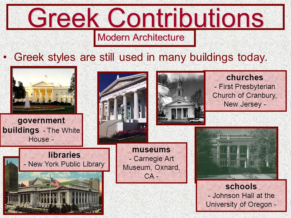 Modern Architecture Greek Influence the legacy of ancient greece - ppt video online download