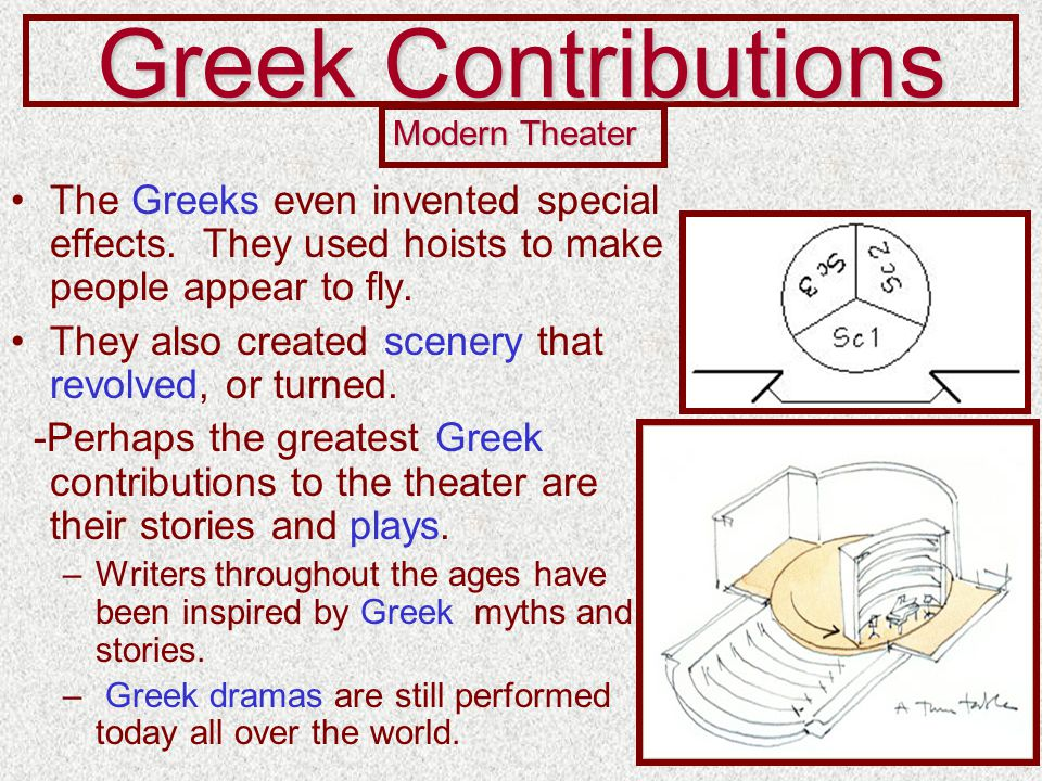 the effects of greek theatre on Masks in ancient greek theatre the use of masks in ancient greek theater draw  their origin from the ancient dionysian cult thespis was the first writer, who.