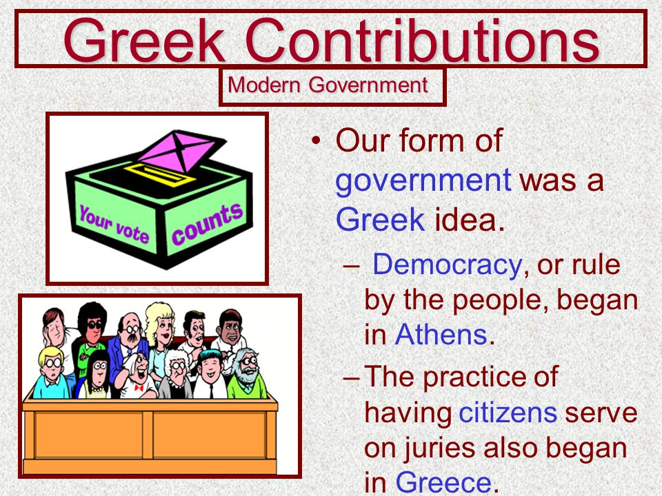 roman contributions to our democracy Roman contributions to democracy  rome contribute to the development of democracy  led to the development of our current system of democracy .