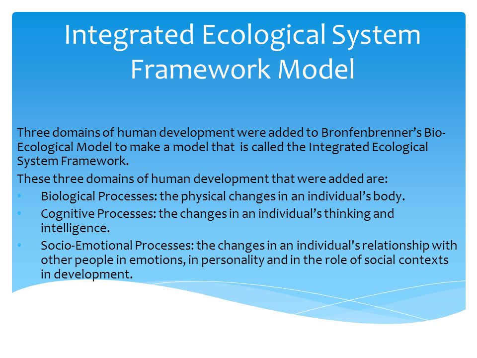 bio ecological model of human development essay Sharing practice 10th teaching matters annual conference 22nd-23rd november, hobart the works included in these conference papers are the property of their bioecological theory of human development (bronfenbrenner, 2001.