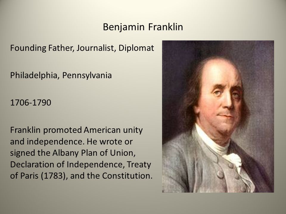 benjamin franklin american diplomat essay Benjamin franklin's contributions to the american revolution as a diplomat in france founded papers.