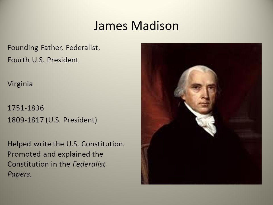 james madison essays constitution More essay examples on politics rubric james madison reached the zenith of his political life with his writing of the bill of rights at first, madison was against such it since he saw the constitution as a bill of rights unto itself but the anti-federalists would not ratify the constitution until such a provision was included.