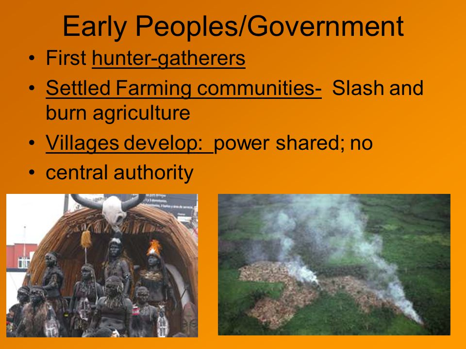 Early Peoples/Government