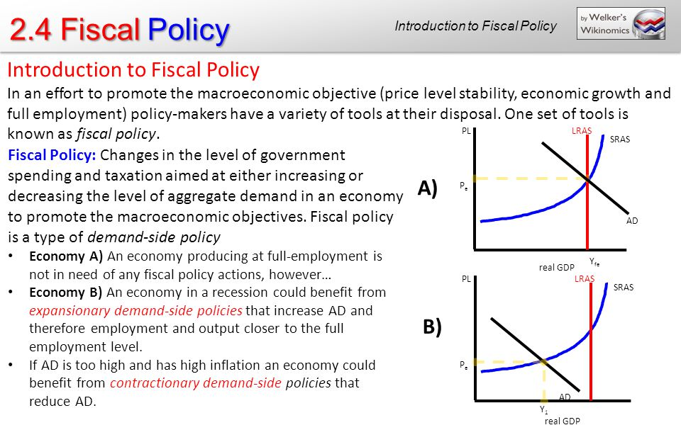 monetary policy and fiscal policy during the recession But because discretionary fiscal policy changes in the  fiscal policy would be  needed to combat a recession.