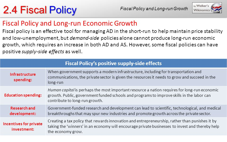 economic effects of fiscal policy How does fiscal policy affect inflation if the economy is initially at full employment and the government increases what are the effects of fiscal policy.