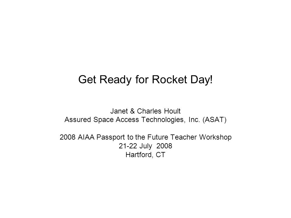 Get Ready for Rocket Day!