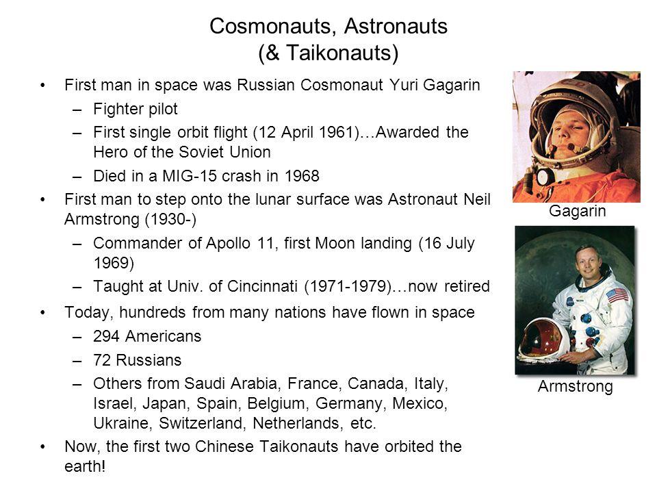 Cosmonauts, Astronauts (& Taikonauts)