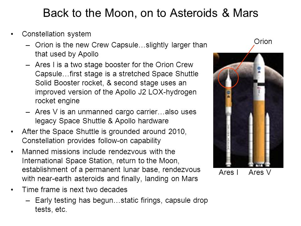 Back to the Moon, on to Asteroids & Mars