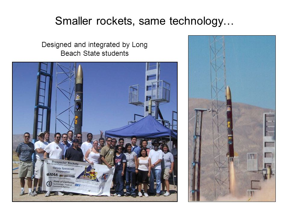 Smaller rockets, same technology…