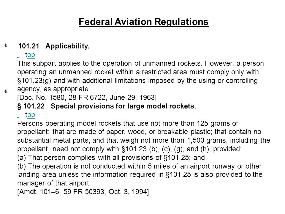 Federal Aviation Regulations