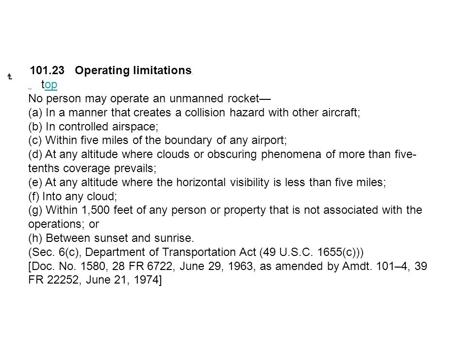No person may operate an unmanned rocket—