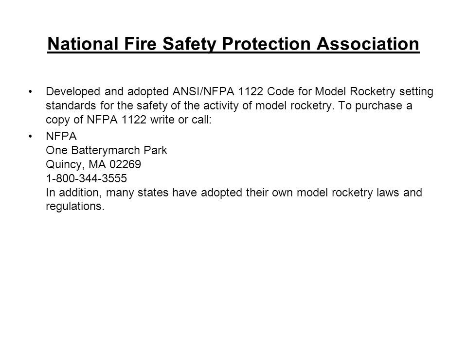 National Fire Safety Protection Association