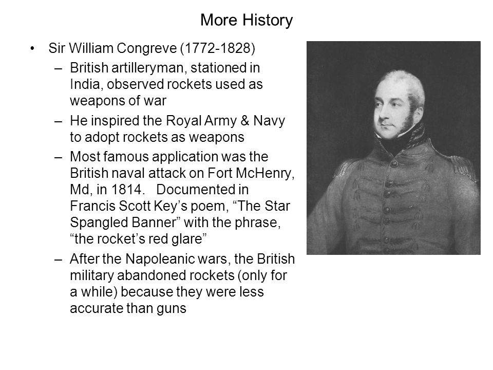 More History Sir William Congreve (1772-1828)