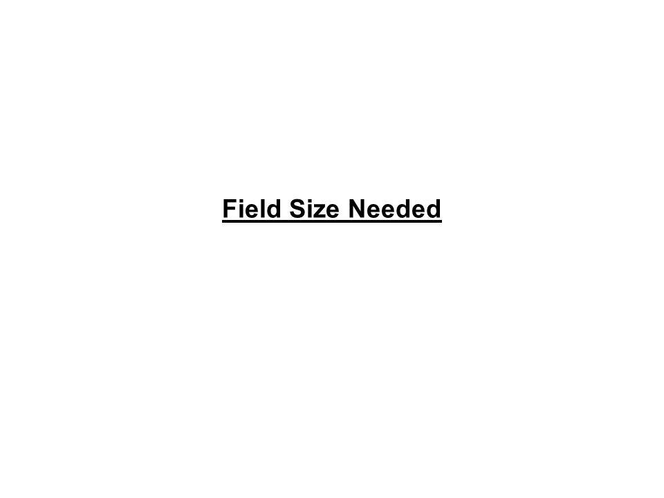 Field Size Needed