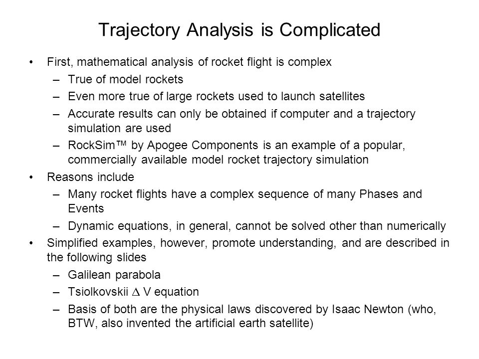 Trajectory Analysis is Complicated