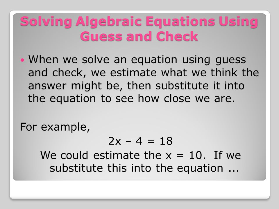 how to solve algebraic equations with parentheses