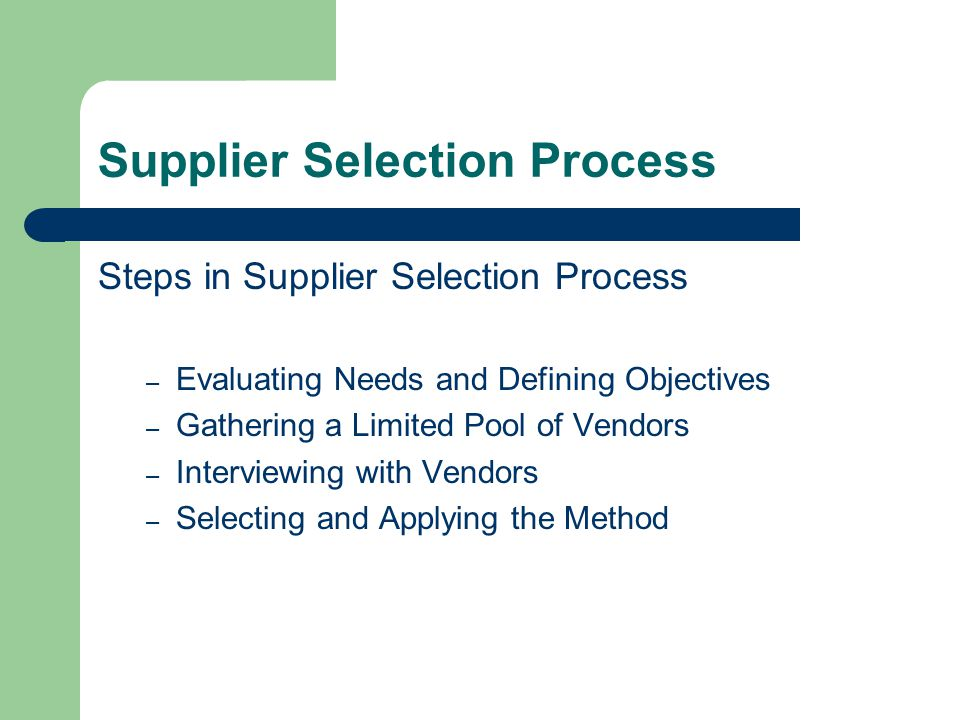 a supplier selection evaluation and re evaluation Hello all, although i have spent many hours on these forums, this is my first time posting so let me start by saying that it is truly amazing to have.