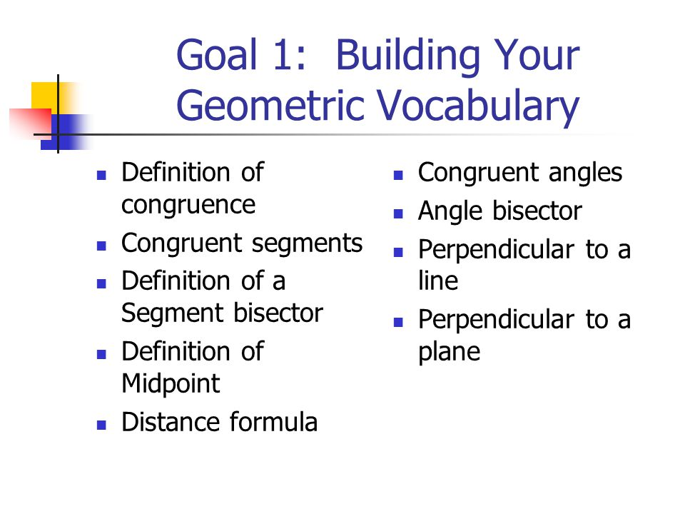 geometric relationship definition