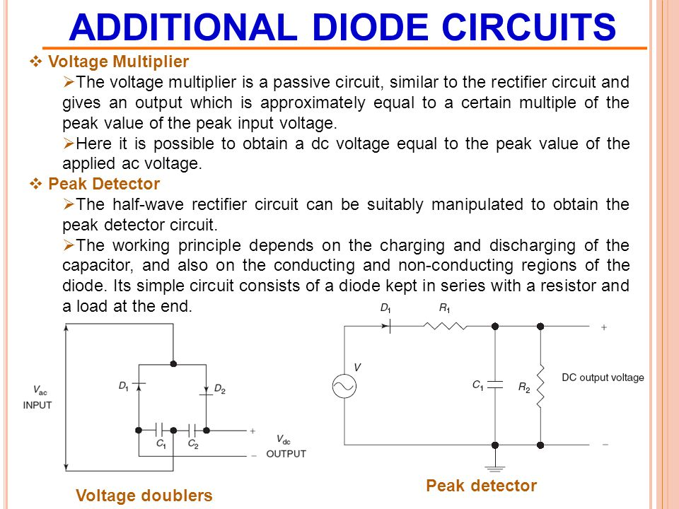 ADDITIONAL DIODE CIRCUITS