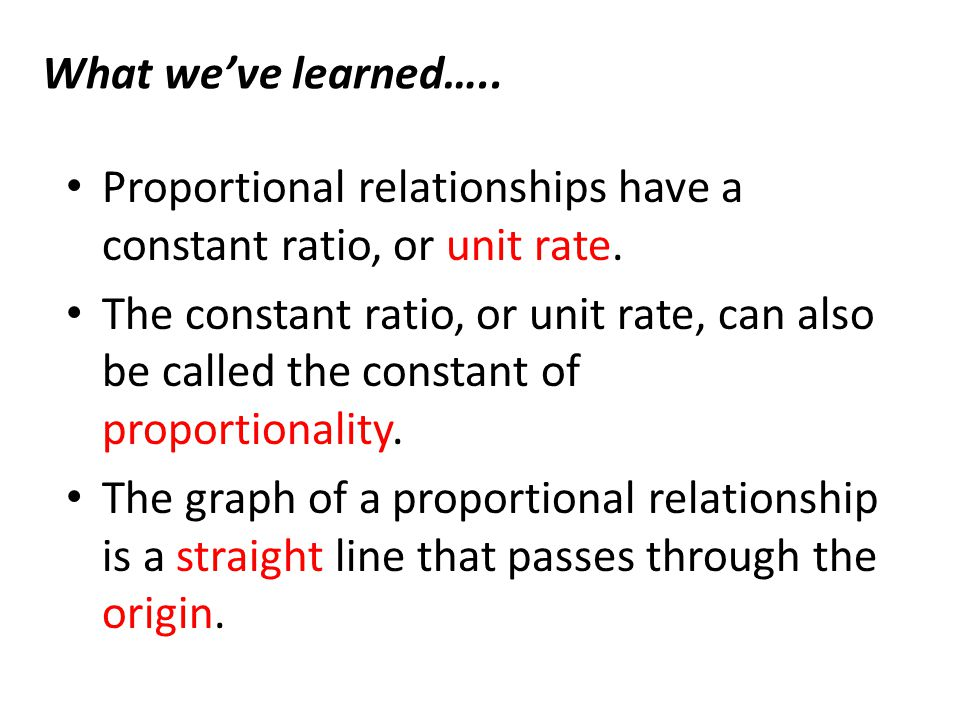 what is the equation for a directly proportional relationship