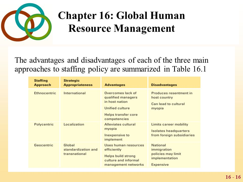 the advantages of human resource management The human resource management function  • apply human resource management knowledge and concepts to practical  health dialog's main competitive advantages.