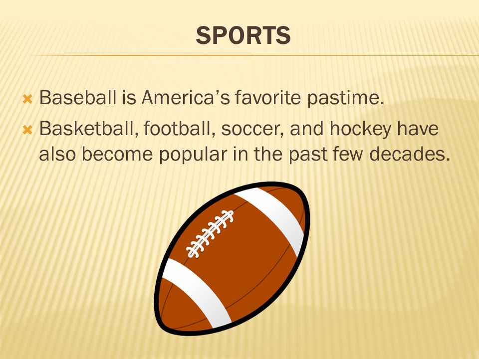 football americas favorite sport The nfl may still be america's most popular sport, but it's become increasingly  clear that football embodies the spirit of a nation as it once was.