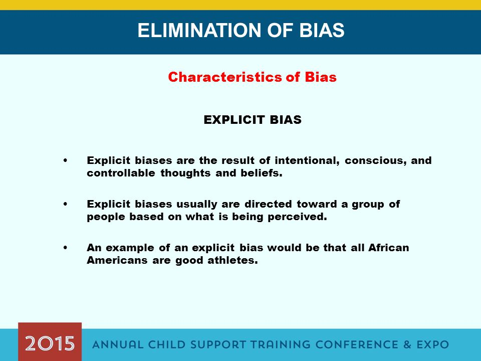 Elimination Of Bias Lauren Orr Manuel Villegas Ppt Download