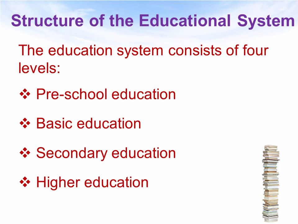 Structure of the Educational System