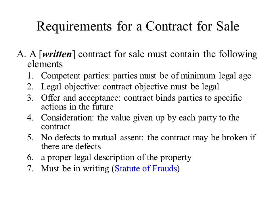 Chapter  Contracts For Sale And Closing  Ppt Video Online Download