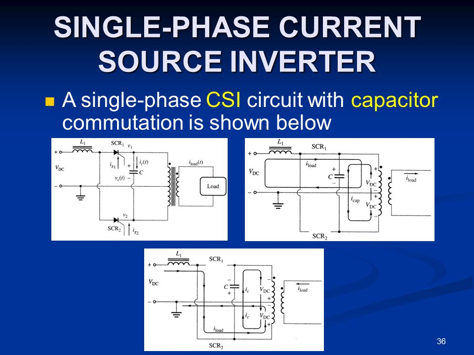 SINGLE-PHASE CURRENT SOURCE INVERTER