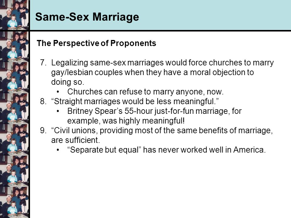 Benefits of legalizing gay marriage — photo 1