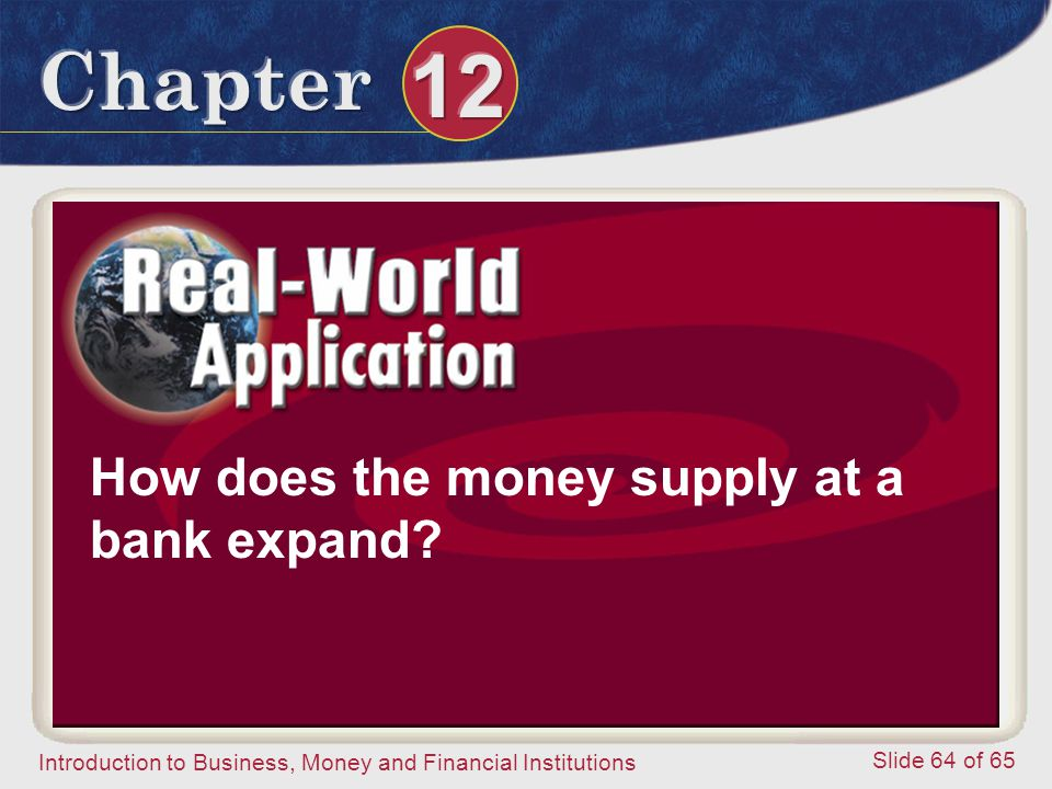 How does the money supply at a bank expand