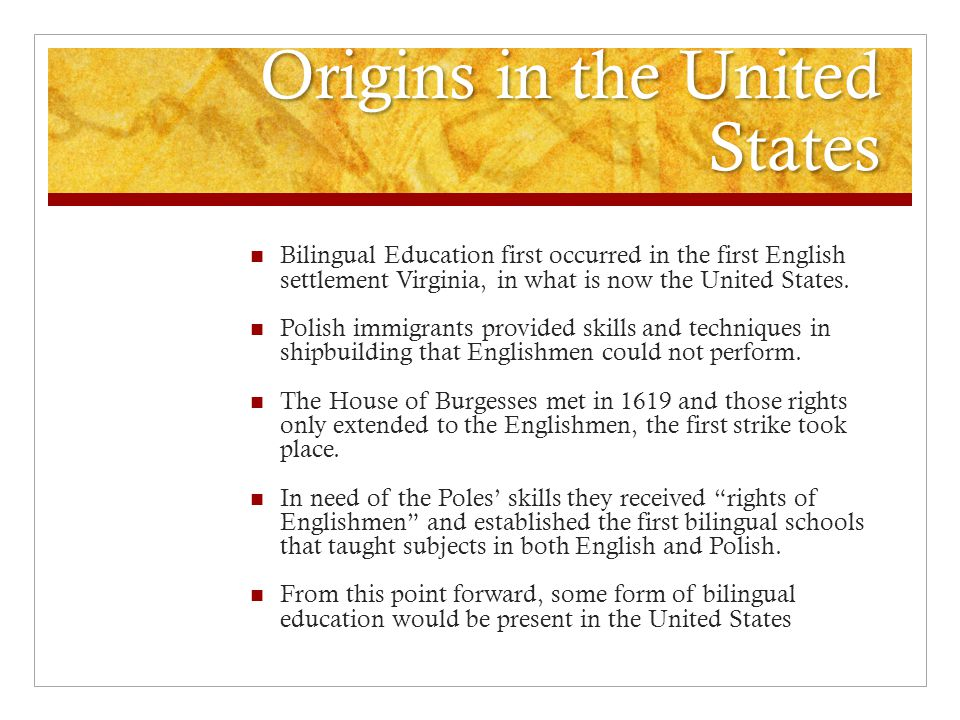 Origins in the United States