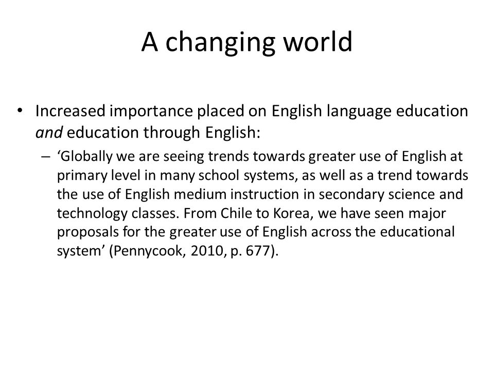 importance of english as a language used in the fields of science and technology English is de rigueur for many things, but especially for science more than three- quarters of scientific papers today are published in english—and in some fields it is more than 90 percent, according to data compiled by scott montgomery in his book does science need a global language as recently as.