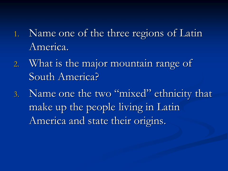 ethnicity and latin america essay Scientific racism the us national institute of medicine has noted that historically, studies on race, ethnicity, age,  latin america and asia.