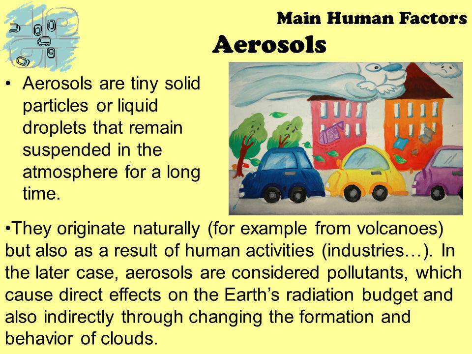 Aerosols Main Human Factors