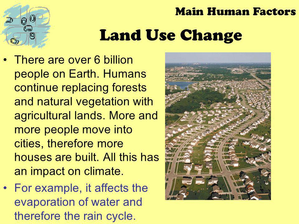Land Use Change Main Human Factors