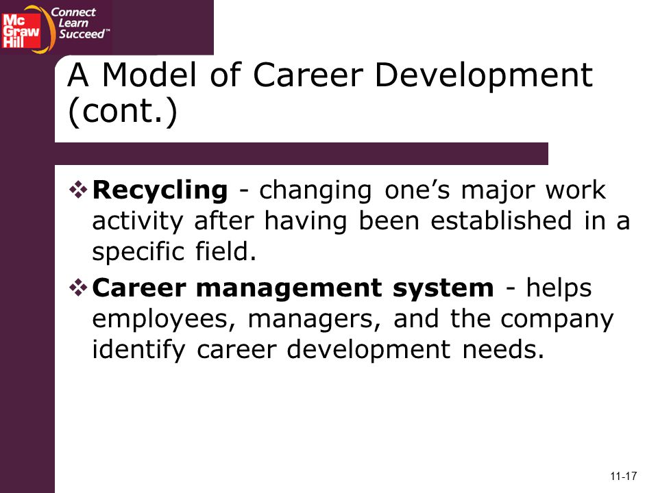A Model of Career Development (cont.)
