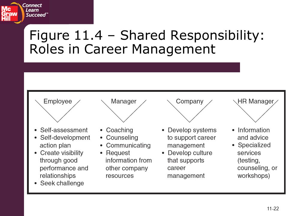 Figure 11.4 – Shared Responsibility: Roles in Career Management