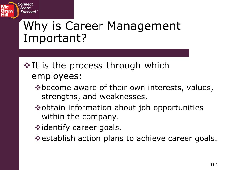 Why is Career Management Important
