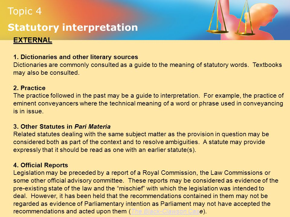 Basic rules of interpretation