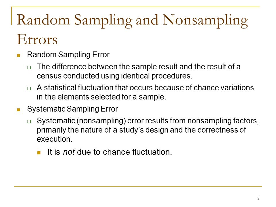 Convenience sample study plan