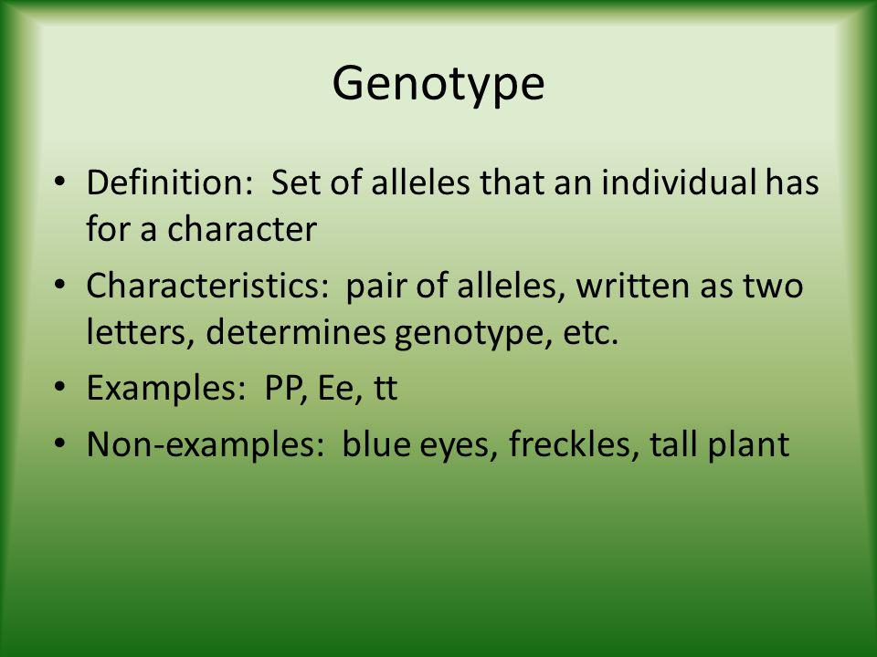 genotype definition - photo #1