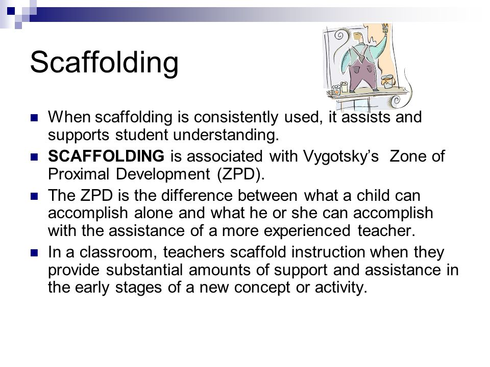 scaffolding instruction for english language learners