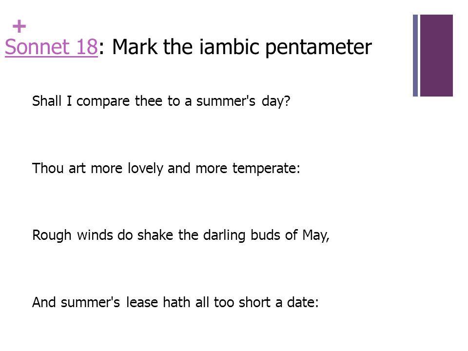 Iambic Pentameter And Sonnet Ppt Video Online Download